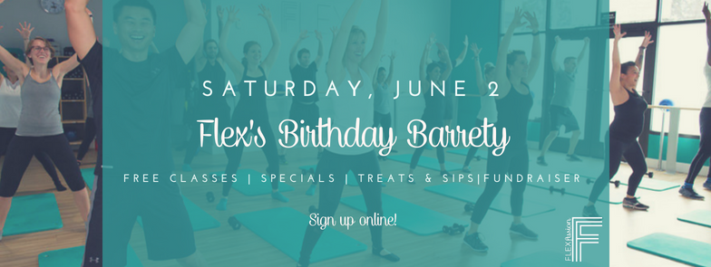 Flex's Second Birthday! Free Classes & Fundraiser